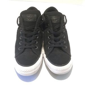 Converse All Star Matte Black Leather Sneaker 8
